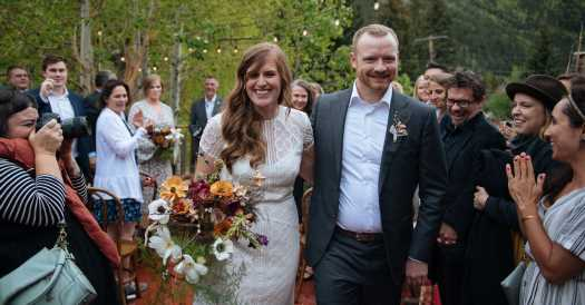 A Ghost Town Wedding With 47 Guests, and Maybe a Few Others