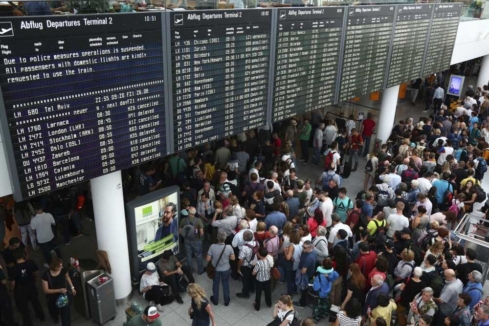 Man's mindless mistake causes mass cancellations at Munich airport