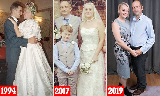 Couple who married young before divorcing tie the knot AGAIN