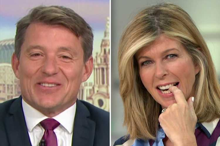 Ben Shephard was 'transfixed' when he saw Kate Garraway topless as they appear together on GMB