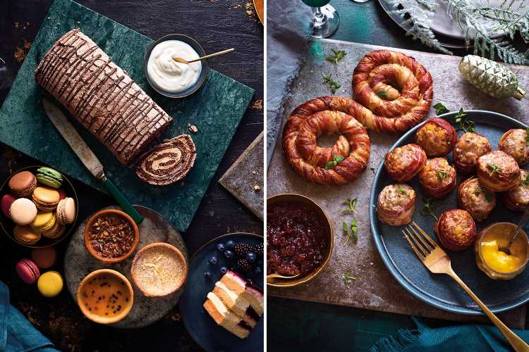 Lidl's Christmas menu includes a yard-long pig in blanket and an espresso martini roulade
