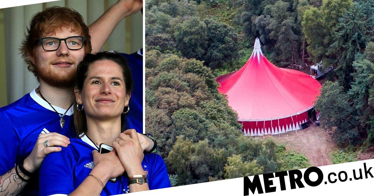 Ed Sheeran's erects big top for 'festival-style wedding' to Cherry Seaborn