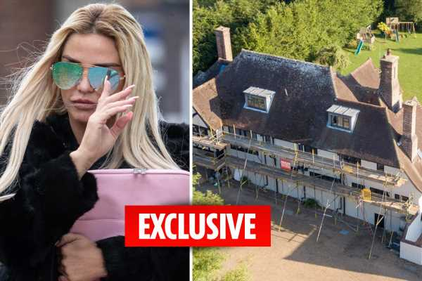 Skint Katie Price faces losing £2m mucky mansion and is due back in court over £12k a month bankruptcy repayments