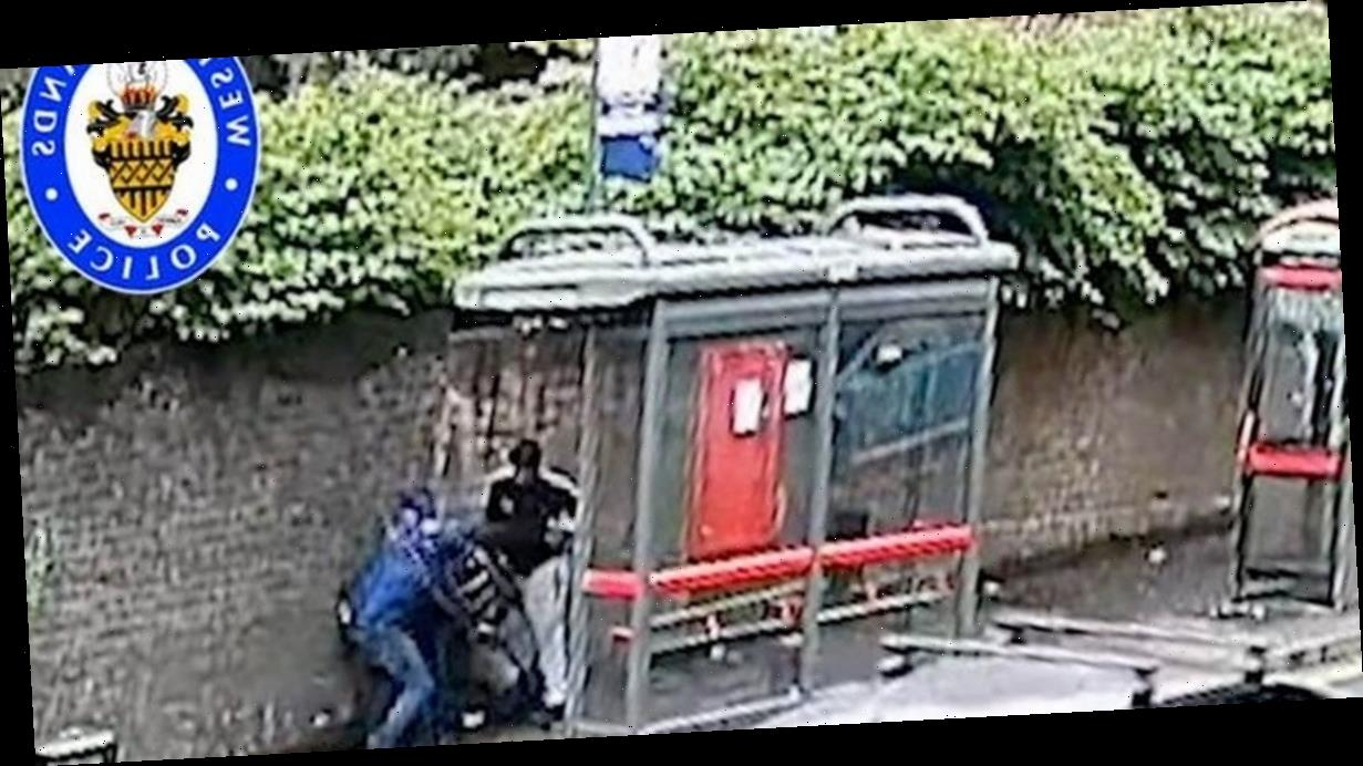 Thugs who battered frail man with metal bar at bus stop in broad daylight jailed