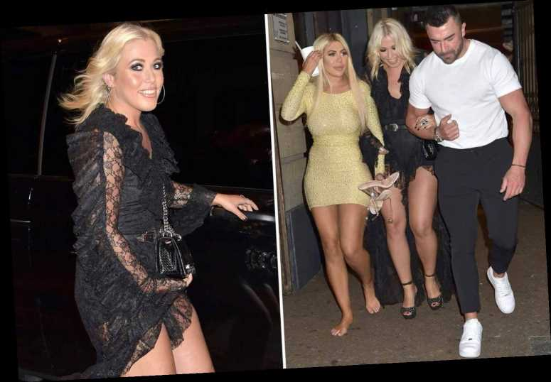 Former X Factor star Amelia Lily and Chloe Ferry stumble out of boozy night out as joins Geordie Shore cast