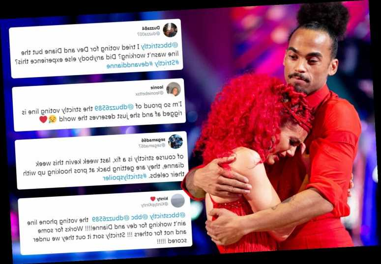 Strictly fans slam 'fixed' show as Dev Griffin is eliminated after phone lines were 'too busy for votes'