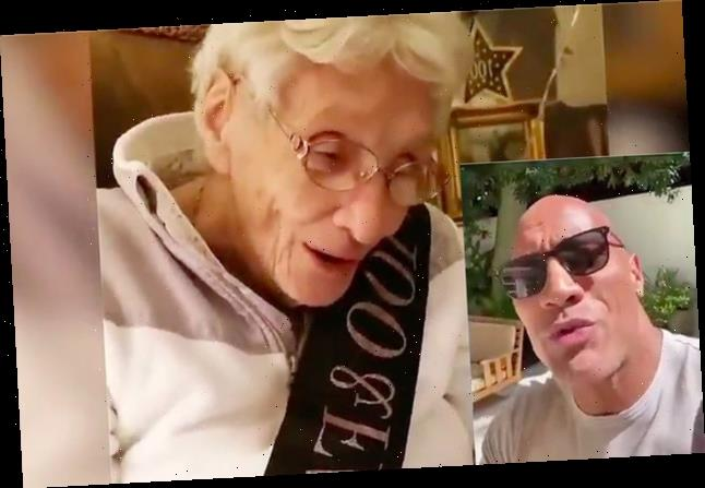 """Dwayne """"The Rock"""" Johnson Surprised A 100-Year-Old Fan With A Birthday Video"""