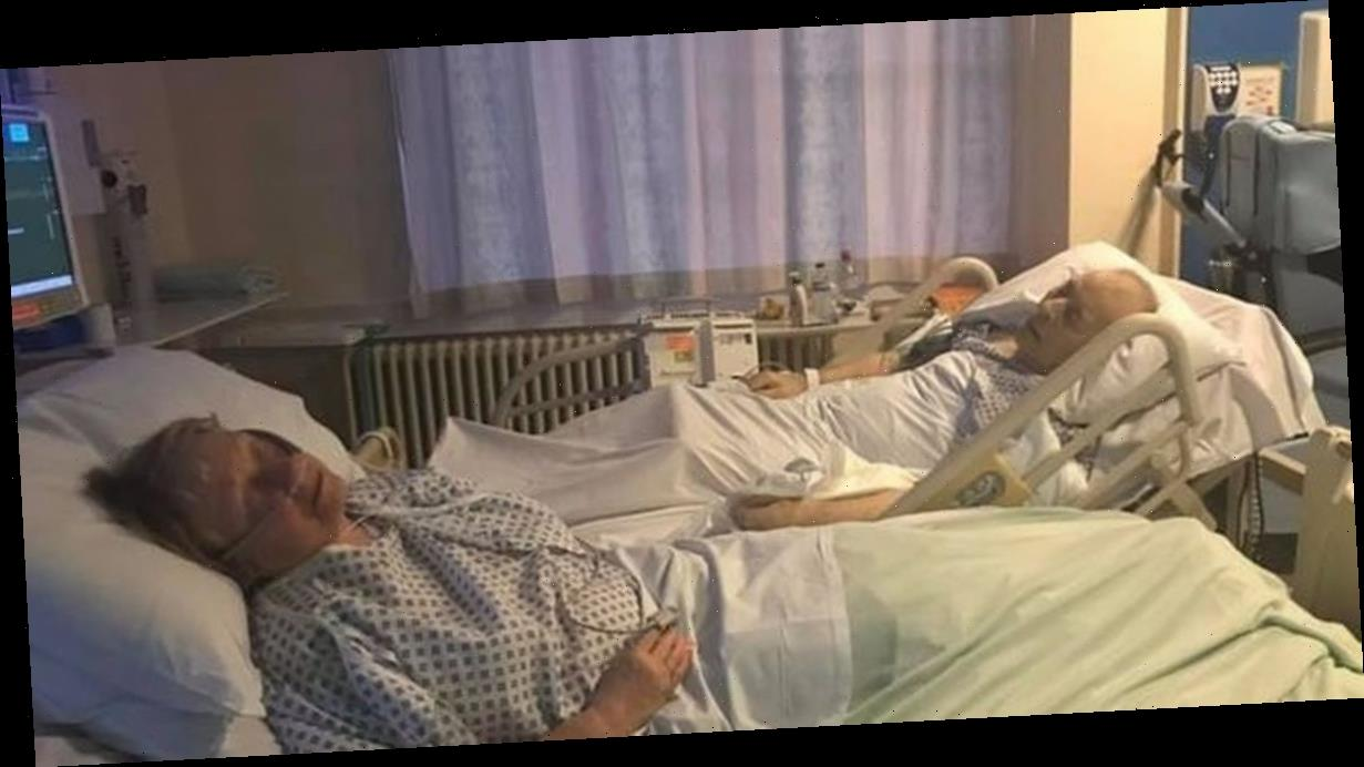 Dying couple hold hands from hospital beds – before she's 'arrested for murder'