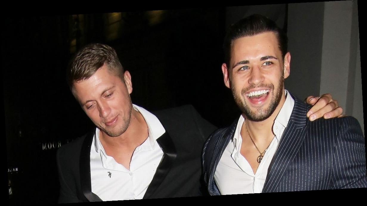 Dan Osborne stumbles out of charity do after partying with Christine McGuinness