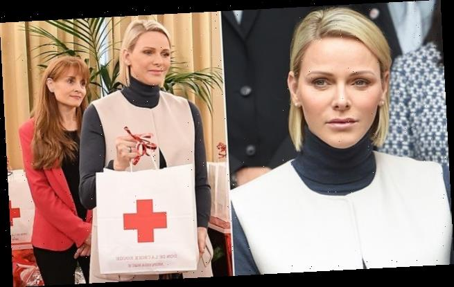 Princess Charlene of Monaco attends Red Cross Christmas gifting event