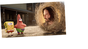 No, You're Not Tripping: That's Really Keanu Reeves in the SpongeBob Movie Trailer