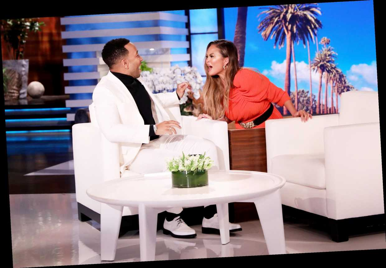 Watch Chrissy Teigen Hilariously Scare John Legend as He Guest Hosts Ellen: 'That Was the Hardest Thing I've Ever Done'