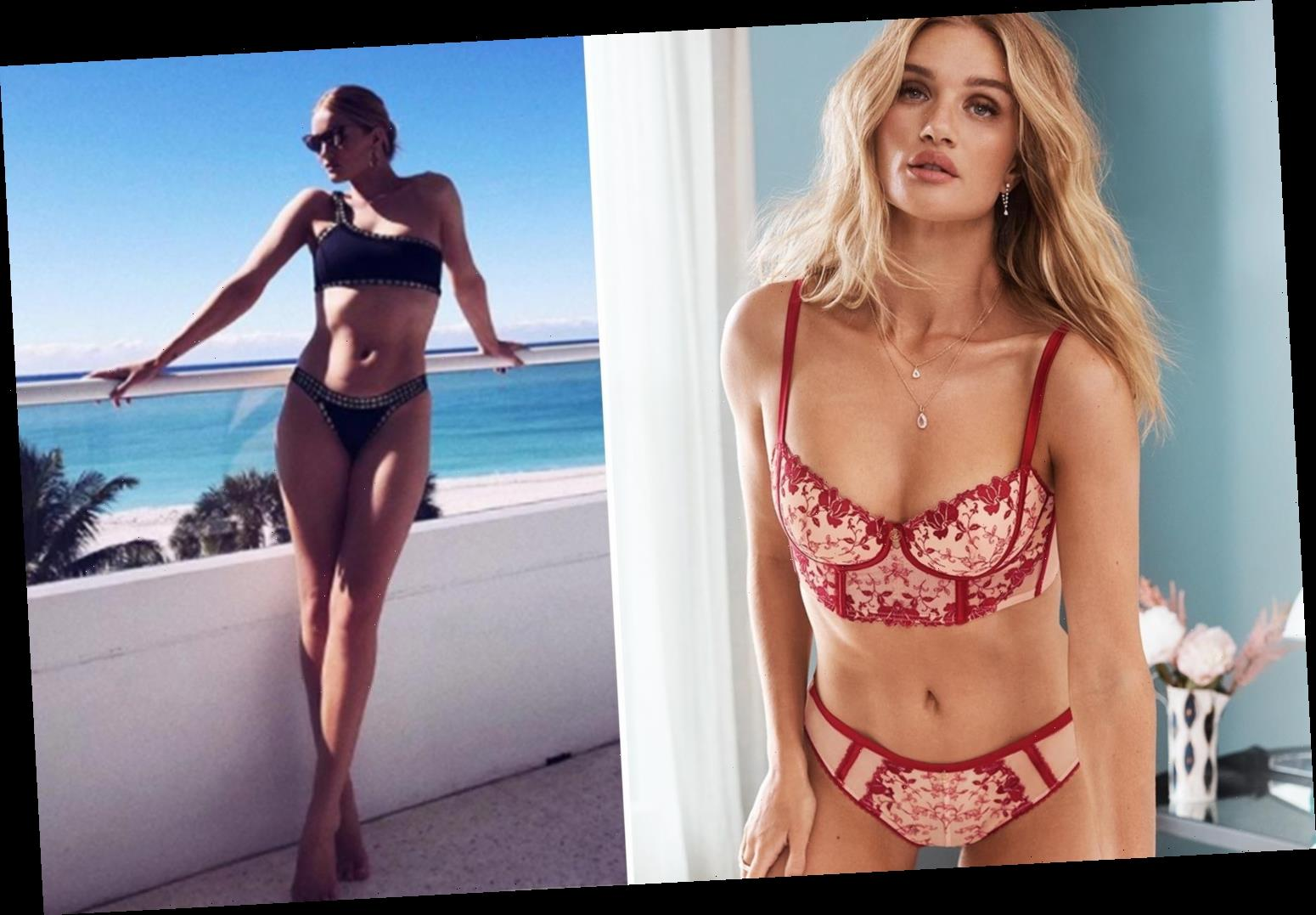 Rosie Huntington-Whiteley hasn't lost her Spark as she shows off some of her lingerie for M&S – The Sun