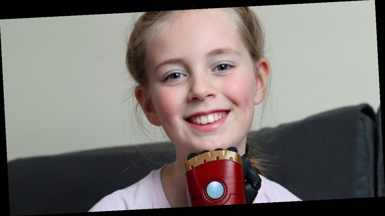 Girl will open Christmas presents for first time using new bionic 'Iron Man' arm