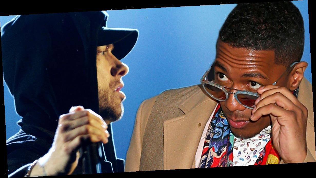 Eminem Disses Nick Cannon Over Nick's Diss Verse Over Em's Diss Verse and Round and Round They Go