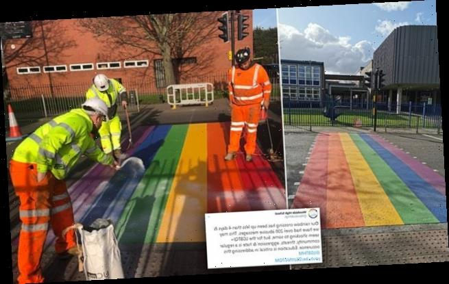 School receives homophobic abuse after painting rainbow on crossing