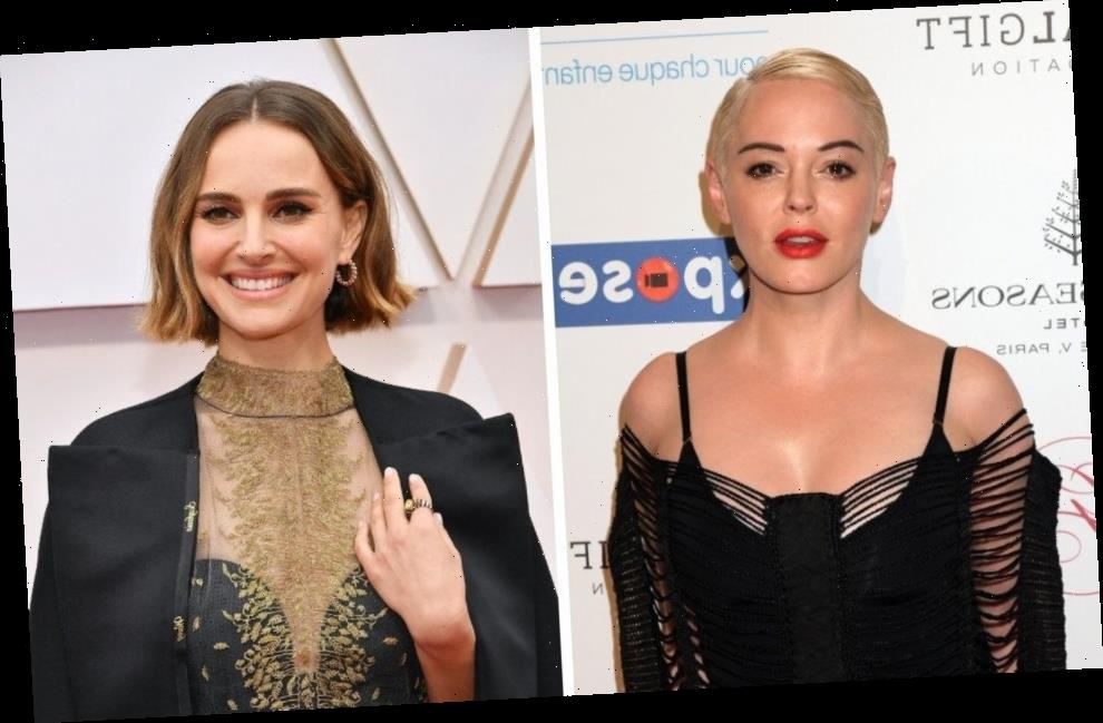 Rose McGowan Was 'Deeply Offended'  By Natalie Portman's 'Fake' Oscars Protest Cape