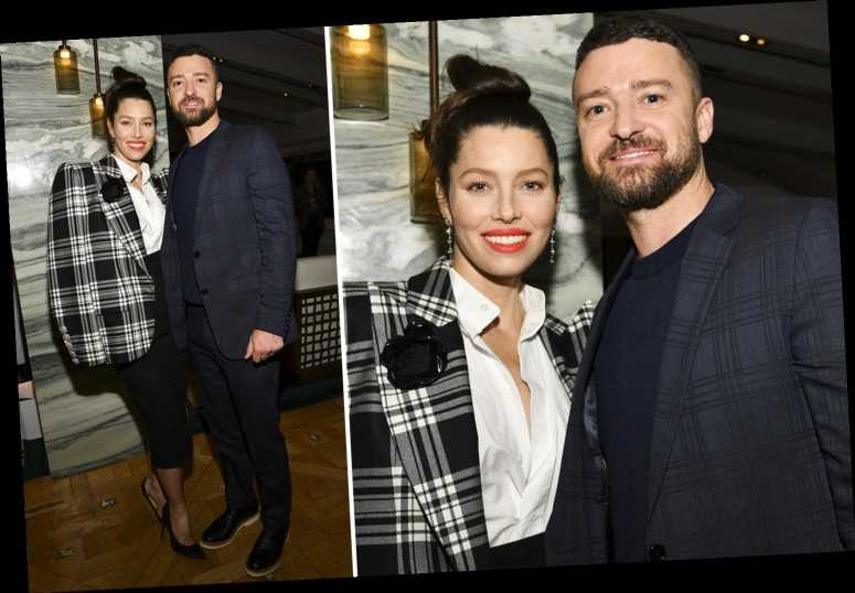 Justin Timberlake supports wife Jessica Biel at The Sinner premiere after he was caught holding hands with co-star