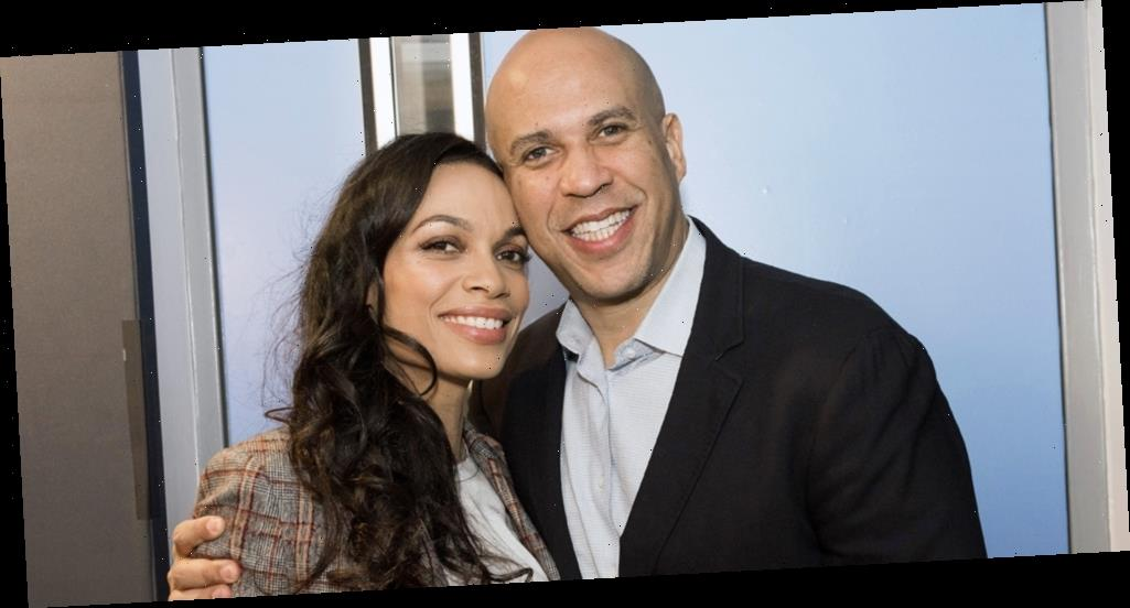 Cory Booker Sends Rosario Dawson a Song For Every Day They're Not Together