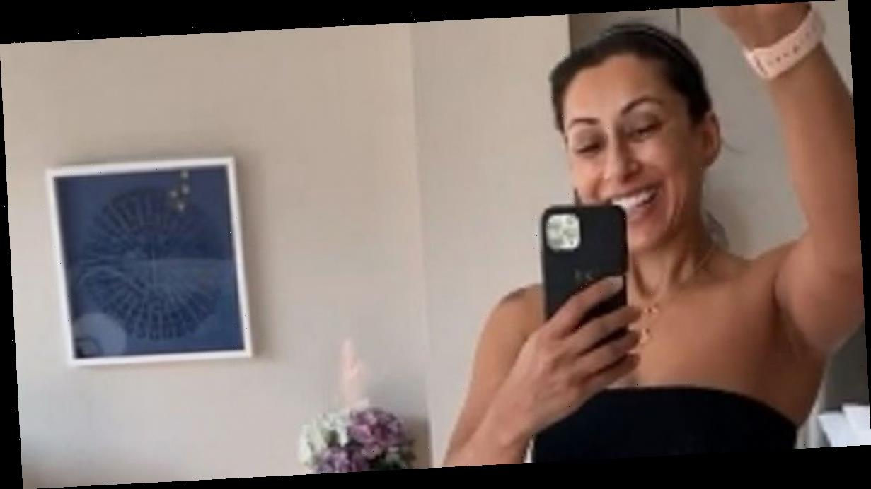 Saira Khan flaunts weightloss and washboard abs in transformation snap