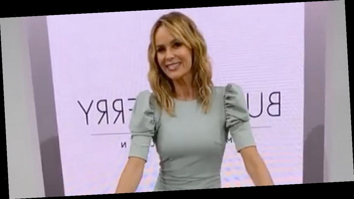 Amanda Holden turns sexy magician's assistant in skintight cocktail dress