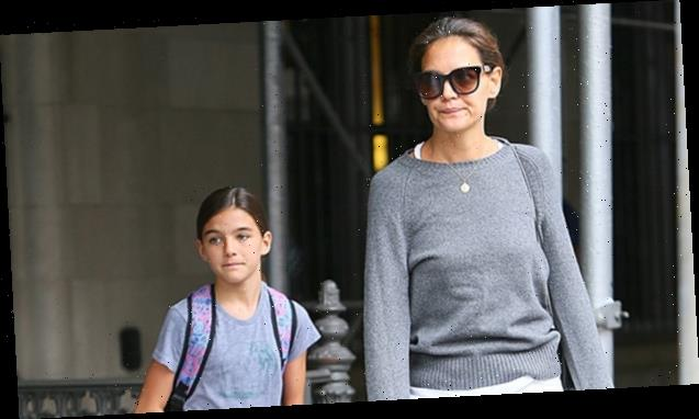 Katie Holmes & Daughter Suri, 13, Appear To Be Fleeing NYC Amid Pandemic