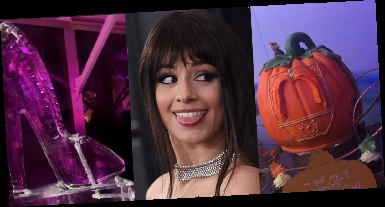 Camila Cabello had an extravagant, 'Cinderella'-themed birthday party with a pumpkin carriage cake and a glass slipper ice sculpture