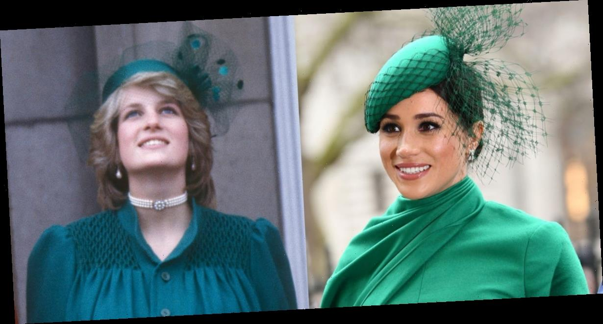 Meghan Markle paid tribute to Princess Diana with an all-green ensemble at her final royal engagement