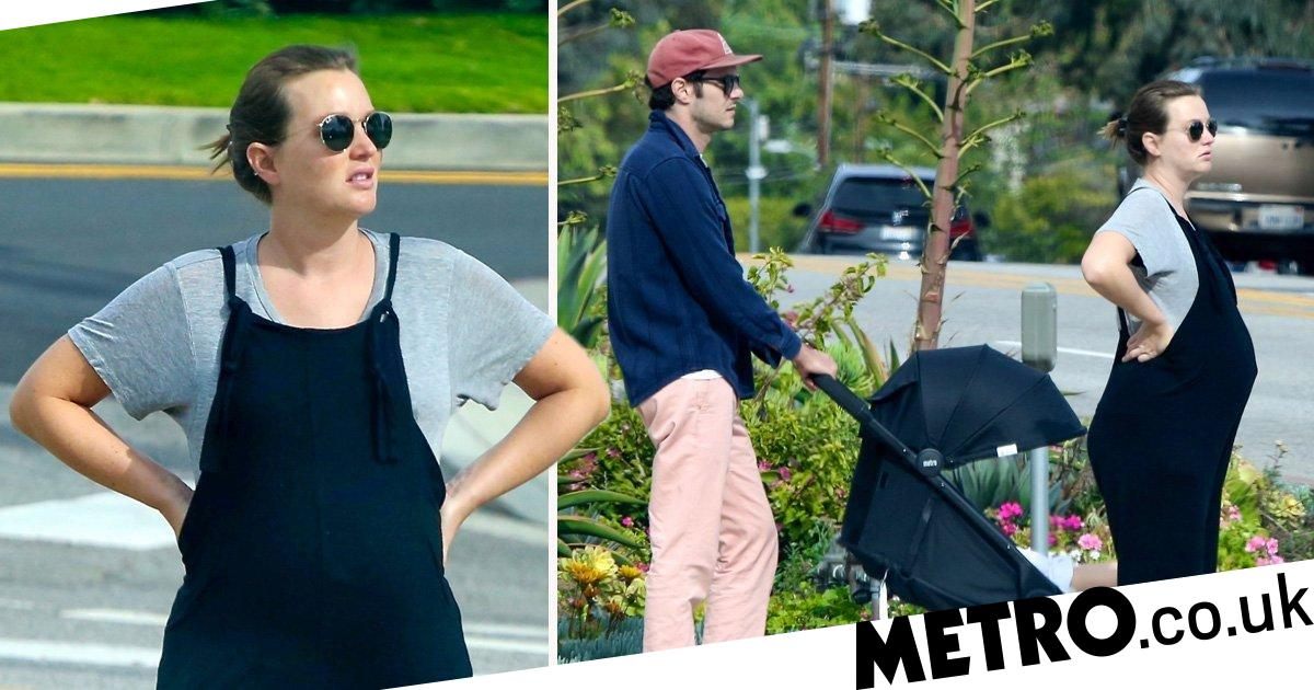 Leighton Meester heads out on daily lockdown walk amid lockdown rumours