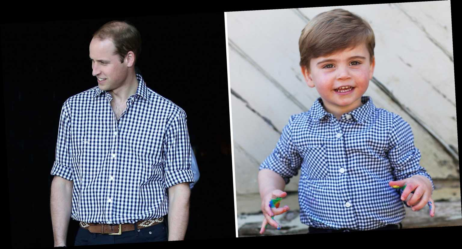 Prince Louis Shares a Twinning Moment with Dad Prince William in New Birthday Photos