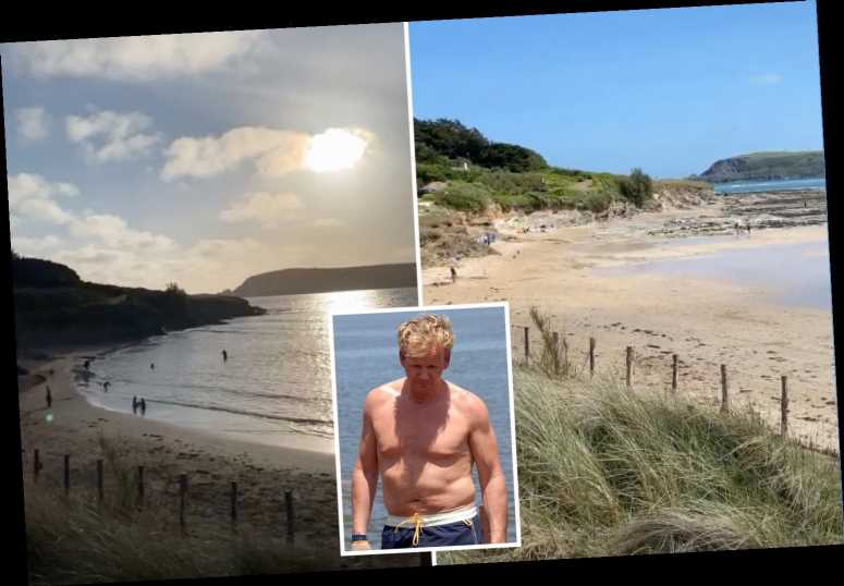 Gordon Ramsay enjoys the beach on Bank Holiday weekend in Cornwall after angering neighbours by living in second home – The Sun