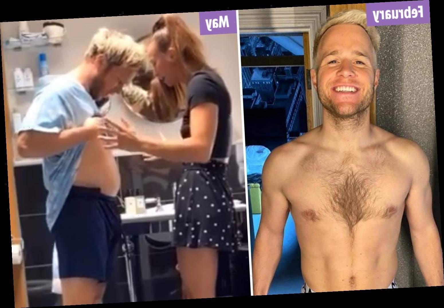 Olly Murs screams after seeing his weight gain in lockdown as he shows off bigger belly – The Sun