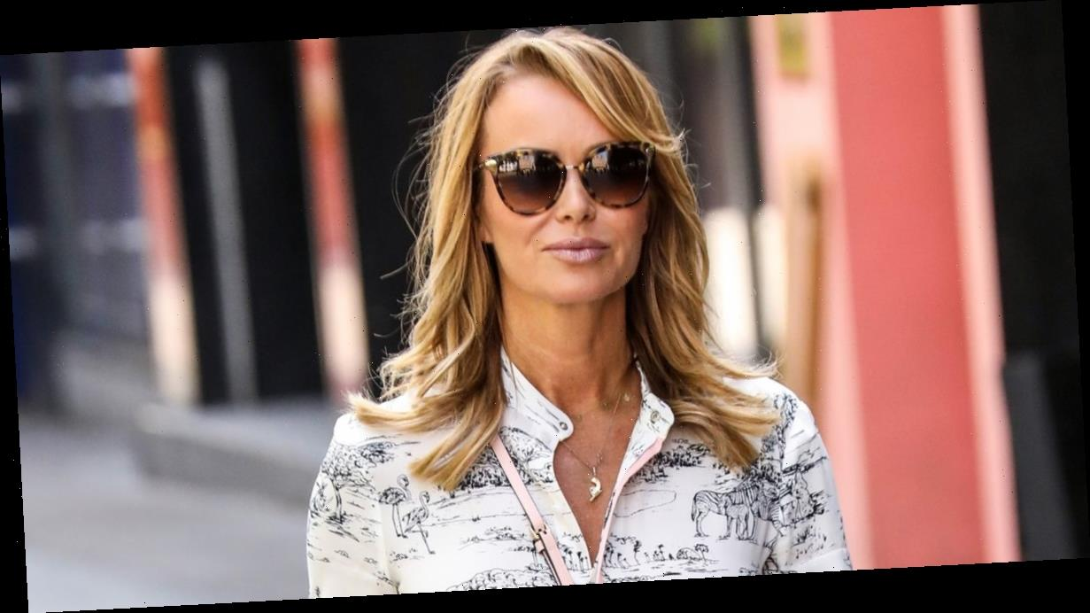 Amanda Holden looks gorgeous in monochrome dress after opening up on marriage with husband Chris Hughes