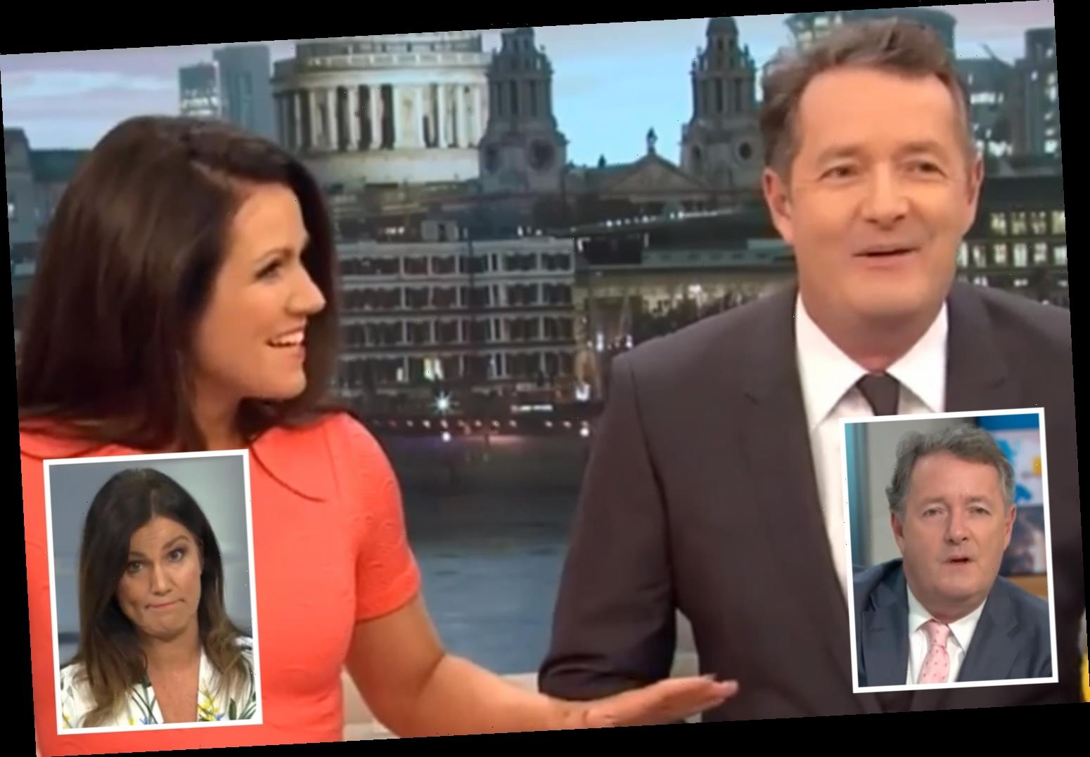 Susanna Reid shocked at 'slimmer' throwback with Piers Morgan as he apologises for 'bullying' over government statement