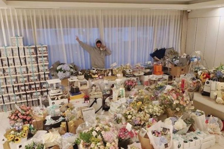 K-idol Lee Min-ho celebrates his 33rd birthday with a roomful of gifts