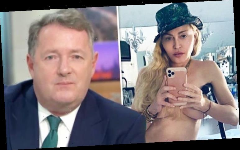 Piers Morgan hits out at Madonna after she shares topless snap: 'Increasingly desperate'