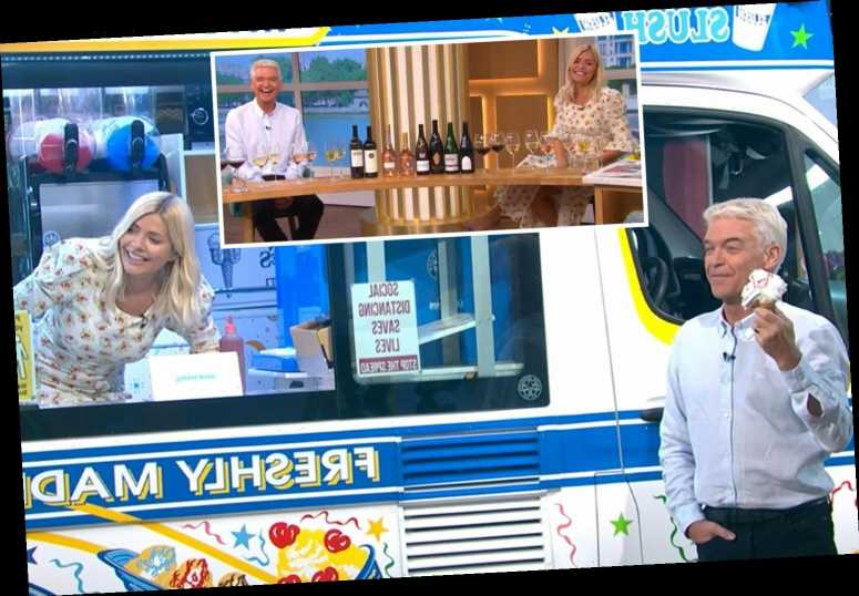 Holly Willoughby and Phillip Schofield down wine and scoff ice cream on final This Morning before summer break