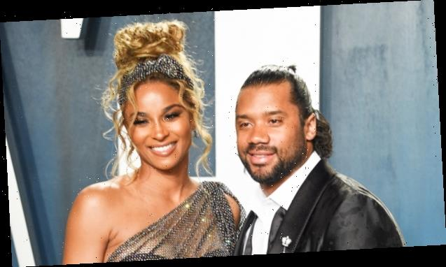 Ciara & Russell Wilson Smile Brightly Holding Baby Win In First Family Photo After Birth — See Pic