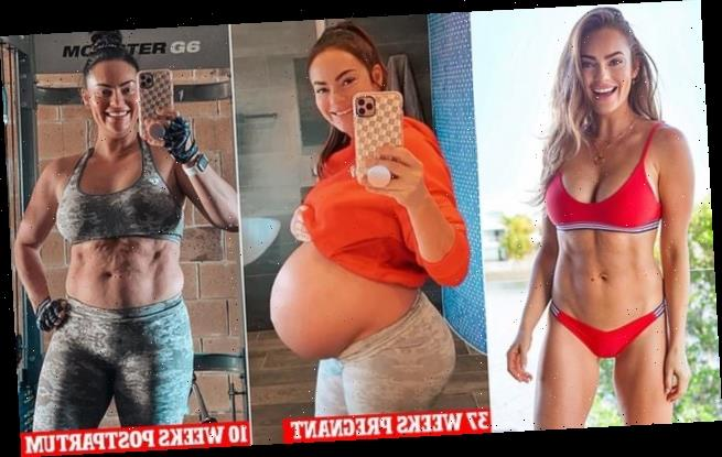 Personal trainer Emily Skye shares a snap 10 weeks after giving birth