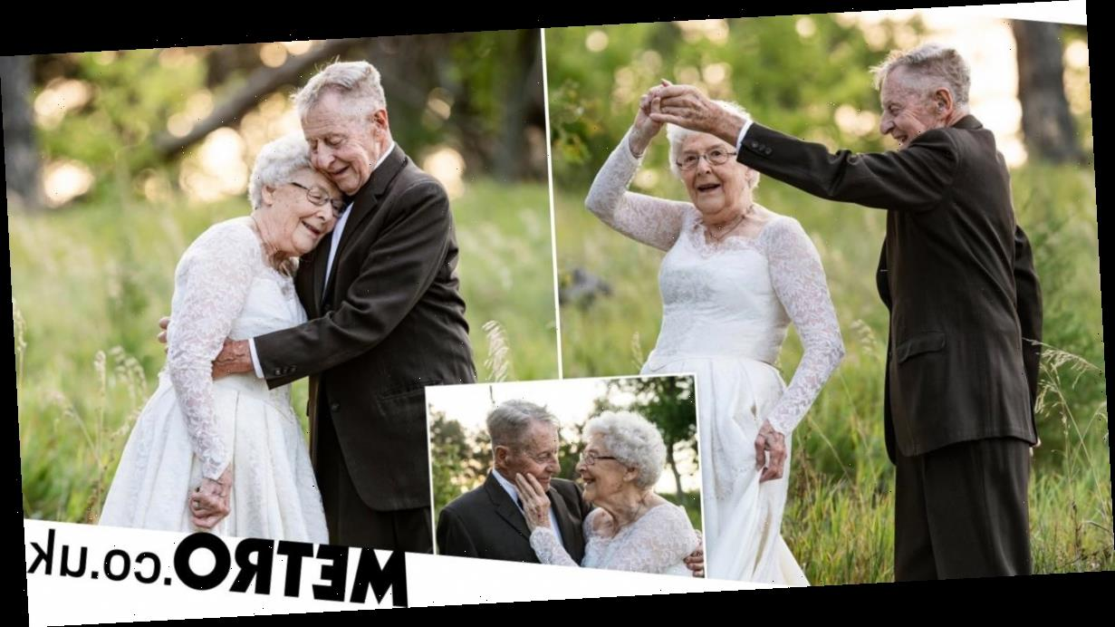 Couple in their 80s celebrate 60th wedding anniversary with beautiful photoshoot
