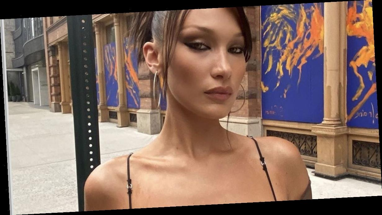 Bella Hadid's boobs steal show as she squeezes eye-popping curves into sheer bra