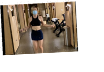 Kaley Cuoco defends herself for wearing a mask during workout