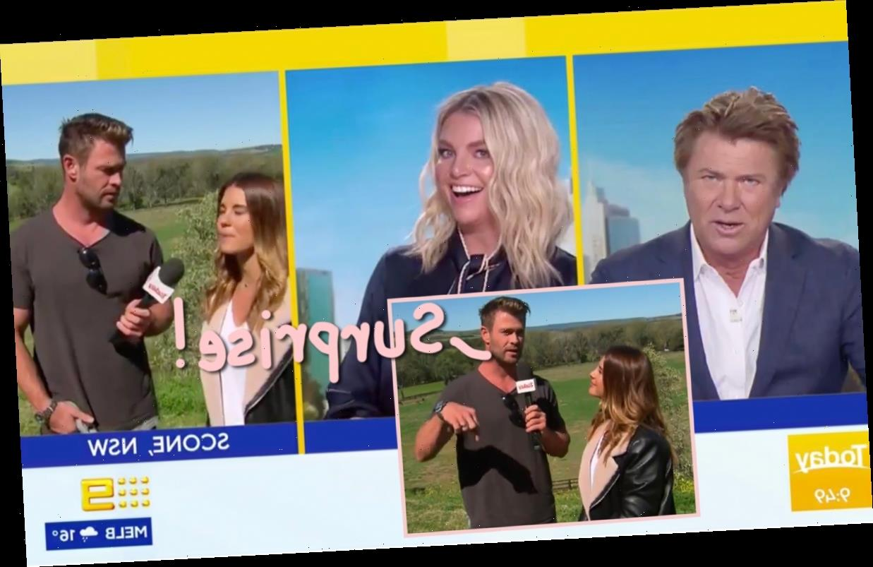 Chris Hemsworth Crashes Live Australian TV Morning Show To HIGHlariously Read The Weather!