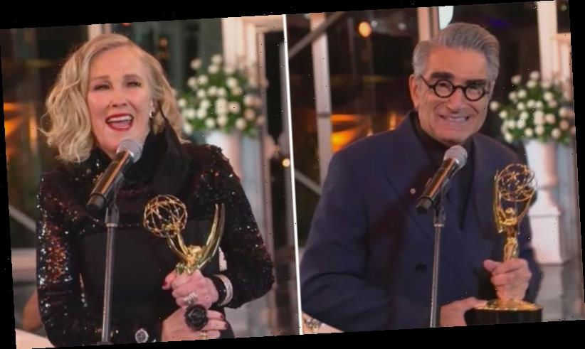 'Schitt's Creek' Stars Catherine O'Hara and Eugene Levy Win Their First Acting Emmys