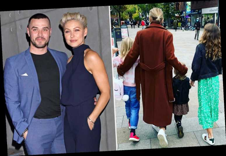 Emma Willis poses in rare photo with all three children she shares with Busted husband Matt