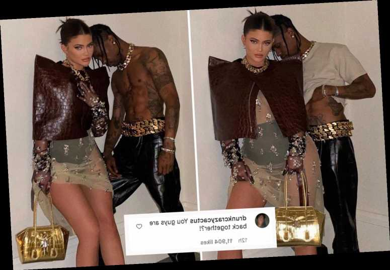 Kylie Jenner gets close to baby daddy Travis Scott in sexy new photos as fans speculate they're officially back together