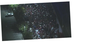 Hundreds gather for pro-Armenia protest outside Los Angeles Times building