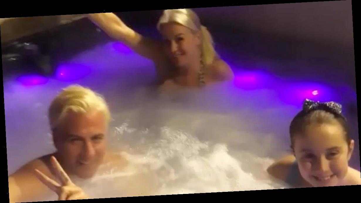 Dancing On Ice's Denise Van Outen strips off for hot tub session with Matt Evers
