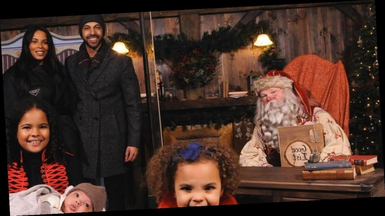 Rochelle Humes and Marvin take children to meet Father Christmas and it is the cutest thing