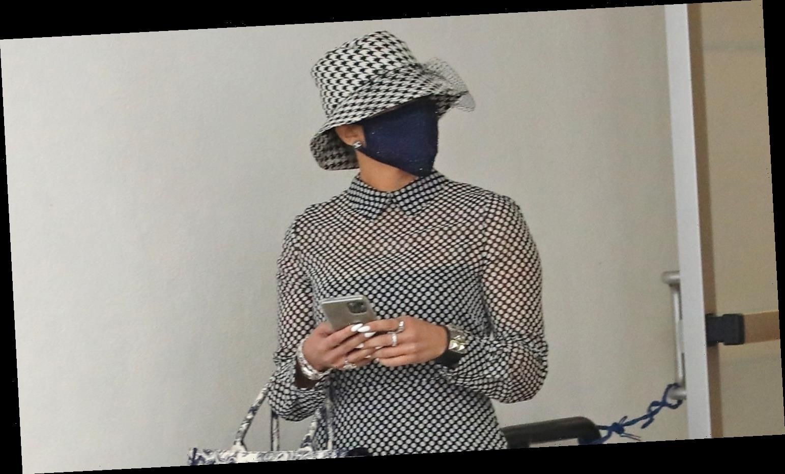 Jennifer Lopez Got All Dressed Up & Was Completely Incognito for Her Dermatologist Appointment